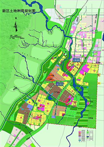 鹤壁新区土地利用规划图(局部)