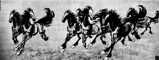 最基础的四只腿动物的国画