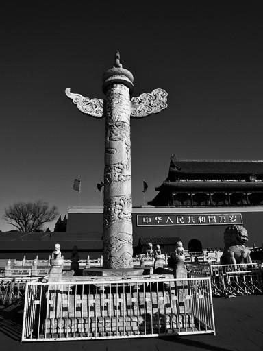 北京天安门前华表图片