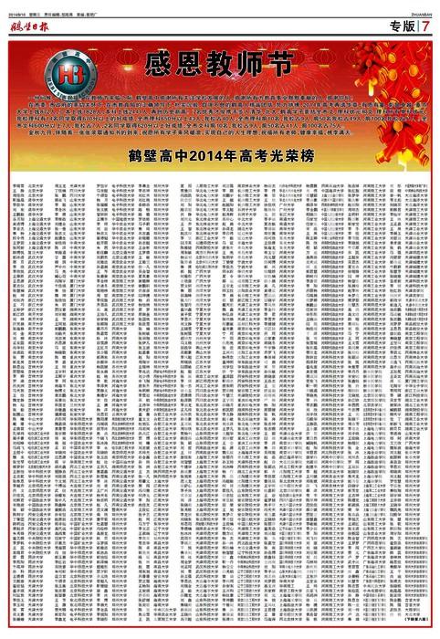 高中鹤壁2014年v高中光荣榜程物理课集合高中所有图片